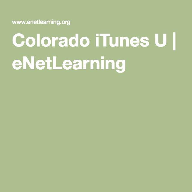 Colorado iTunes U | eNetLearning
