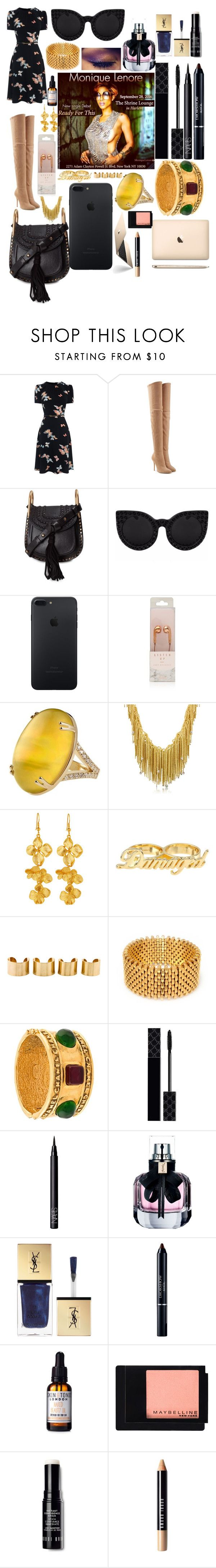 """Tonight I sing in Nyc at Shrine Harlem www.voiceboxcouture.com"" by voiceboxcouture ❤ liked on Polyvore featuring Balmain, Chloé, Orlando Orlandini, Kenneth Jay Lane, Maison Margiela, Alice Menter, Chanel, Gucci, NARS Cosmetics and Yves Saint Laurent"