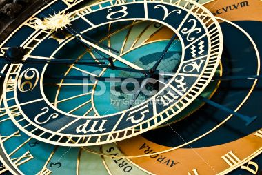 Astronomical clock in Prague, Czeck Republic Royalty Free Stock Photo