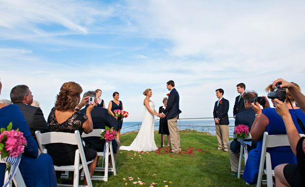 Most Romantic Coastal Maine Wedding Venues on Borrowed & Blue.  Photo Credit: Casey Durgin Photography  Stage Neck Inn wedding information is available at http://stageneck.com/southern-maine-coast-weddings.html