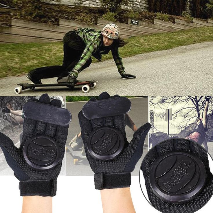 1 Pair Skateboard Gloves Professional Adult Shockproof Longboard Downhill with Foam Palm women man Ski race Sport Full Finger