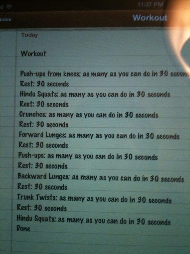For the girl who hates to workout, 7.5 minutes of hell ;-)