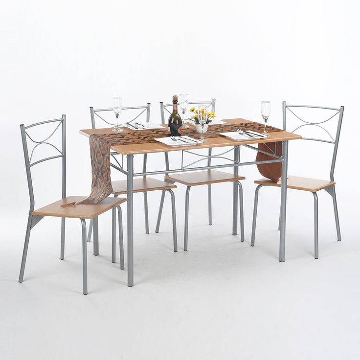 Aingoo 5Pcs Dining Room Set Furniture Unique Design Brand and High Quality Simple Style Dining Table Set Dining Room Furniture