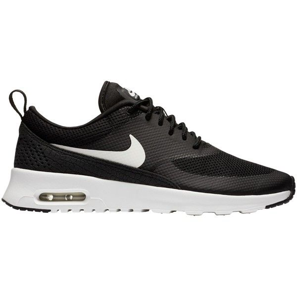 Nike Air Max Thea Women's Trainers , Black/White ($67) ❤ liked on Polyvore featuring shoes, sneakers, nike, black and white shoes, plimsoll shoes, nike footwear and nike shoes