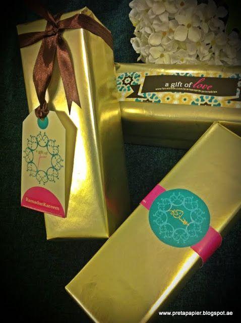 Ramadan Kareem, New Party Printables and Gift Wrap decor.