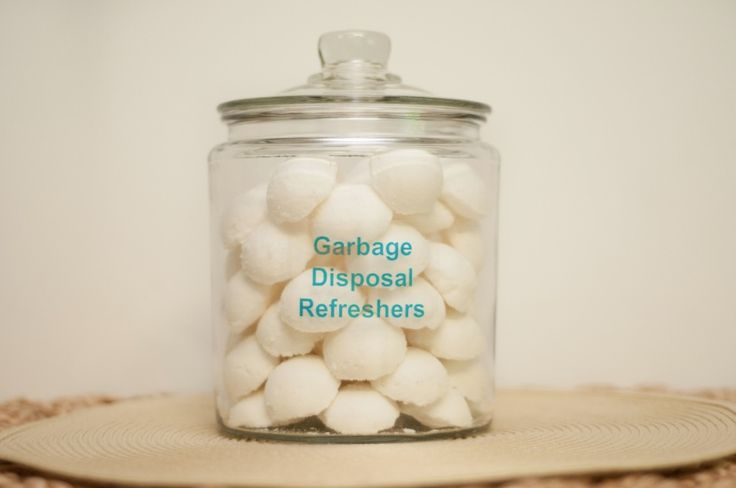 DIY: Garbage Disposal Refreshers with Essential Oils.    What You Need: 2 cups baking soda 1 cup salt 1/2 cup water 1/3 cup liquid castile soap (any scent) 30 drops Lemon essential oil