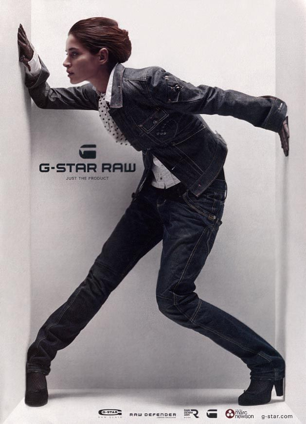 G-Star Raw -- Weird picture, but nice clothes.
