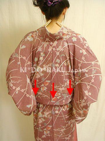 How to put on the kimono