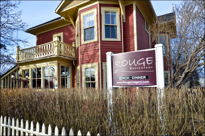Rouge, a little old house but a fancy restaurant inside. Who would've expected it! Calgary, AB