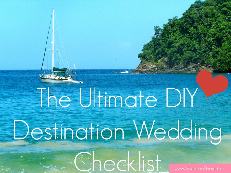 Get the Ultimate Do-It-Yourself Destination Wedding Checklist here: http://www.adventuresplanned.com/2013/11/08/your-last-minute-destination-wedding-checklist/ Make sure you don't forget any details to make your big day perfect!