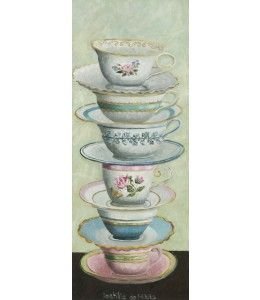 Teatime. Een kunstkaart van Laetitia de Haas.