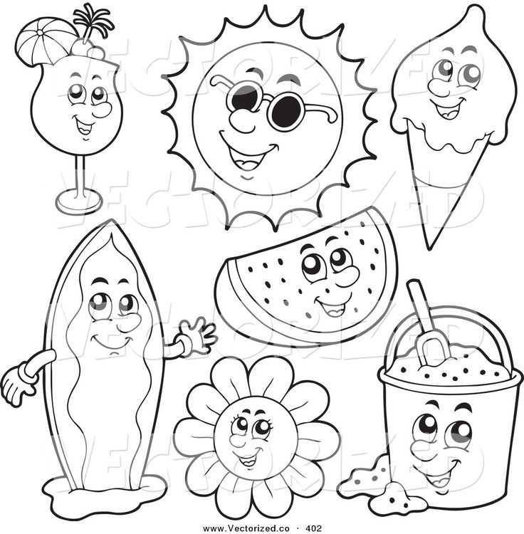 8 best Summer Coloring Pages images on Pinterest  Coloring sheets