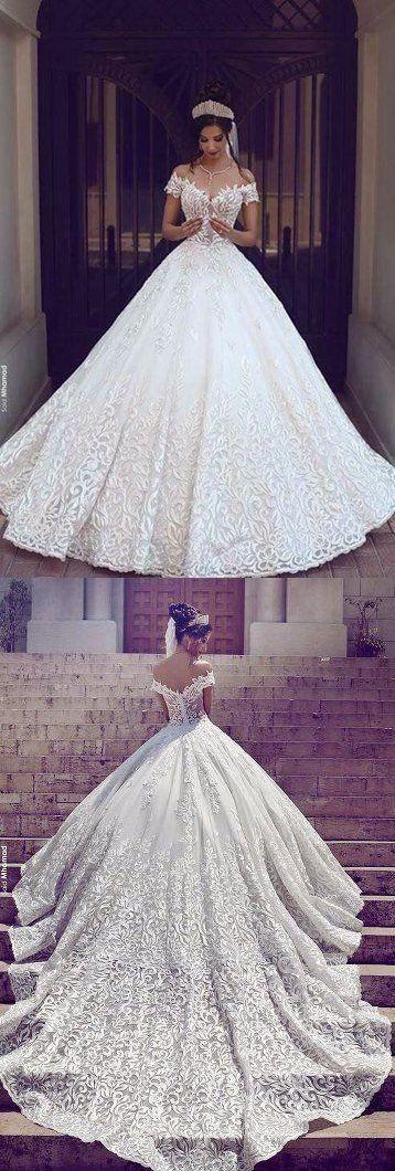 Handarbeit weg von der Schulter Ballkleid Brautkleid mit Applikationen Günstige Brautkleider BDS0310