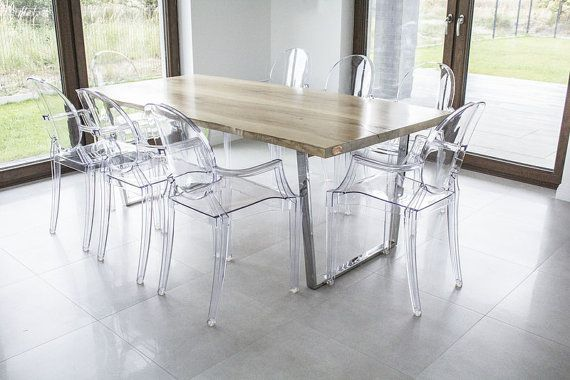 Ash Industrial Dining Table OFLIS with Steel by ProjektCacko