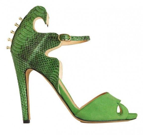 Sandali verdi dalla collezione primavera estate 2013 di scarpe Aperlai
