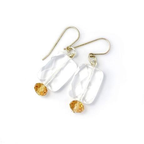 Blossom Handmade Clear Quartz With gold (ESSCQG)