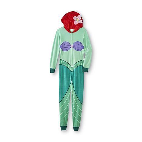 Disney The Little Mermaid Women's One-Piece Pajamas