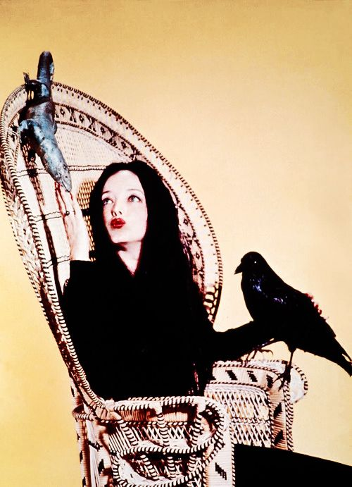vintagegal:    Carolyn Jones as Morticia Addams 1960's