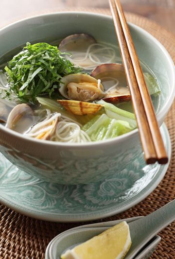 Somen Noodle Soup with Clams