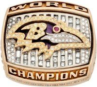 2000 Baltimore Ravens Super Bowl XXXV Championship Ring Presented to Germany Thompson