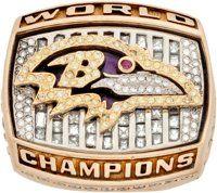 2000 Baltimore Ravens Super Bowl XXXV Championship Ring Presented to Germany Thompson