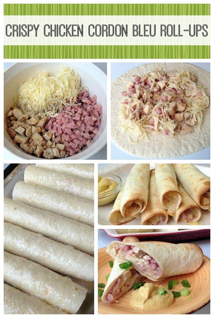 Crispy Chicken Cordon Bleu Roll-Ups: Quick and Easy Recipe - Mom Foodie - Blommi