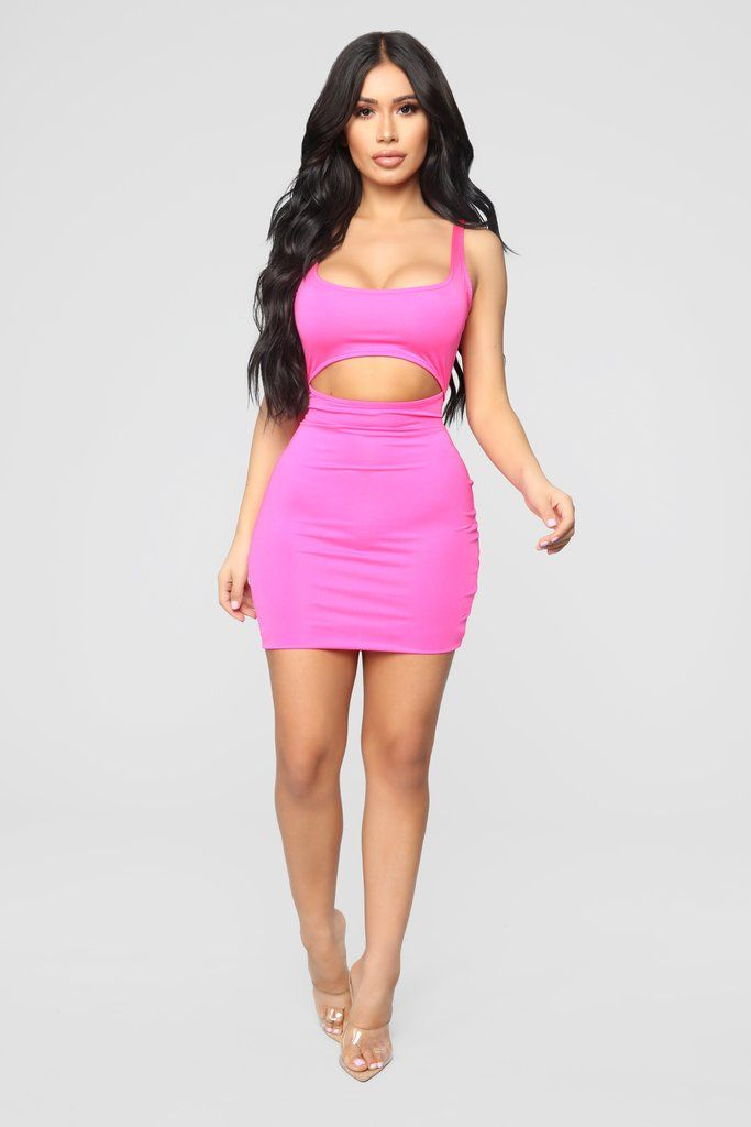 5ad7dfc3fc Cut To The Chase Mini Dress - Hot Pink in 2019 | Fashion | Pink mini ...