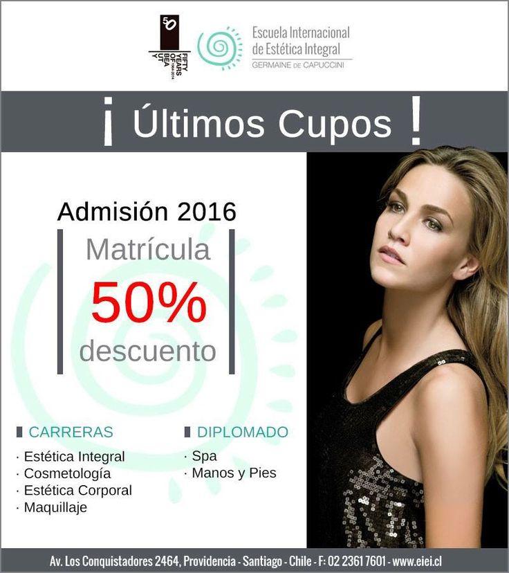 Admisión 2016 de Escuela Internacional de Estética Integral Germaine de Capuccini  ¡¡ÚLTIMOS CUPOS !!