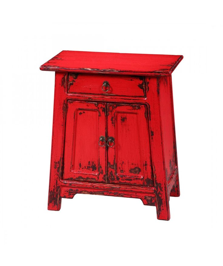 Qing - Red Side Cupboard | Home Office Furniture - Easterly