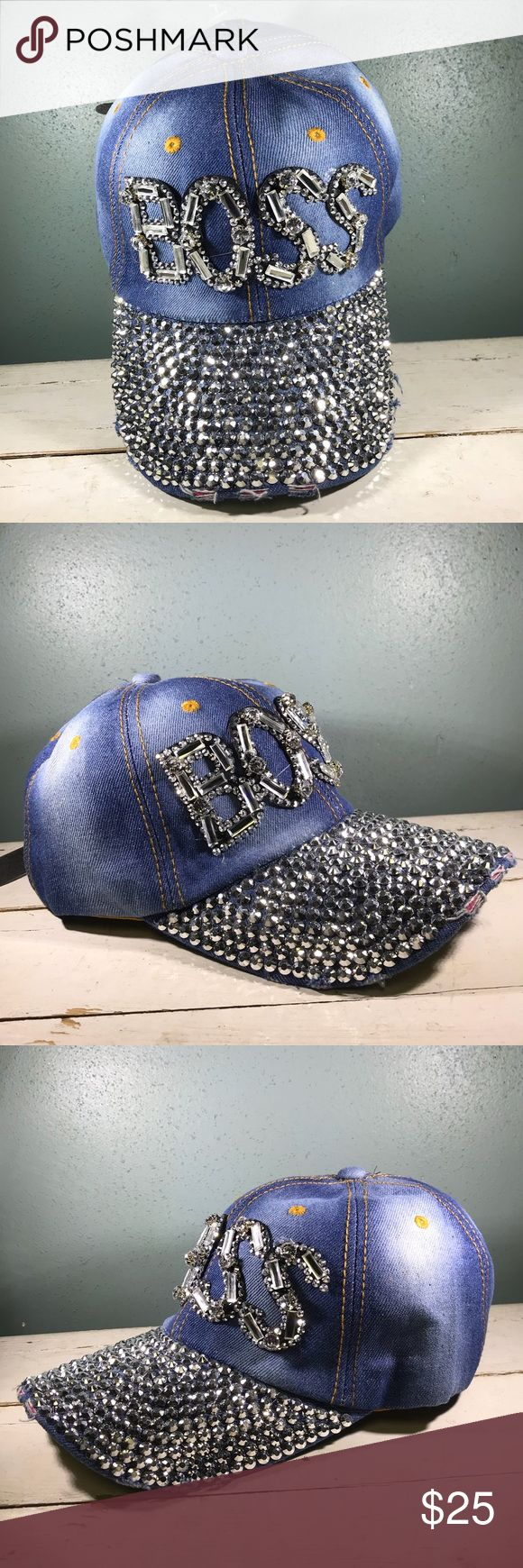 !!!HOST PICK!!! Girl BOSS Bling Ball Cap NWT Magid Hats Brand BOSS hat. Adult sized denim like hat with jewels sewn on to spell out BOSS. The bill of the hat has a distressed edge and is covered in silver studs.  The hat has a leather like size adjuster on the back.   Super cute accessory for Boss ladies! Magid Hats Accessories Hats