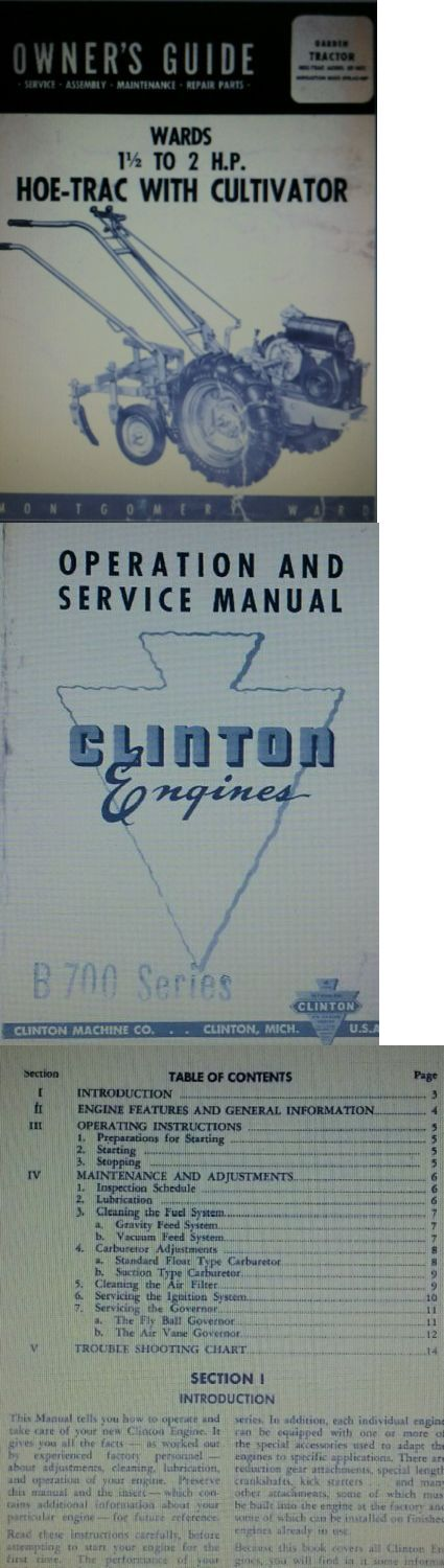 Manuals and Guides 42229: Montgomery Ward Sim-5621 Garden Tractor Owner, Engine, Service, Parts Manual 30P -> BUY IT NOW ONLY: $39.95 on eBay!