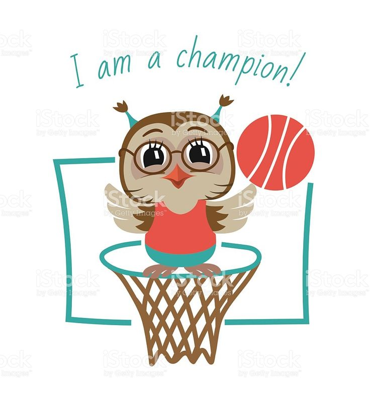 Owl Basketball Player. Vector Illustration. royalty-free stock vector art