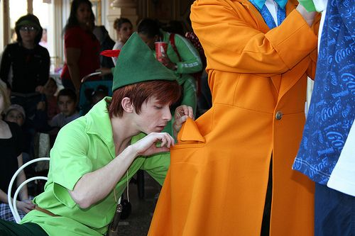 <3 this Peter (Spieling peter, Andrew Ducotes nickname. There were a few peter pan disneyland face characters, and each had their own nicknames. My favs are Huggy Peter and Speiling peter.)