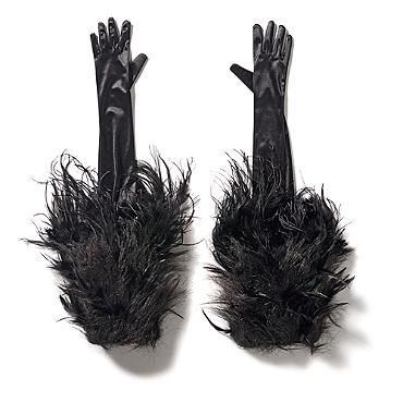 Grandin Road Halloween Haven 2014: Fierce Fur Gloves