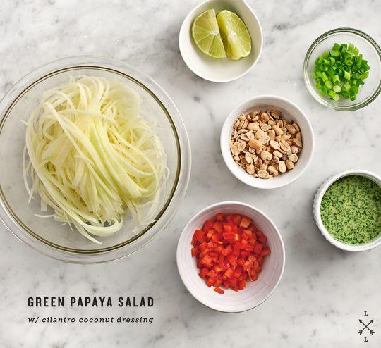 green papaya salad - want this so bad. I wish I could find green papayas more often. - EG