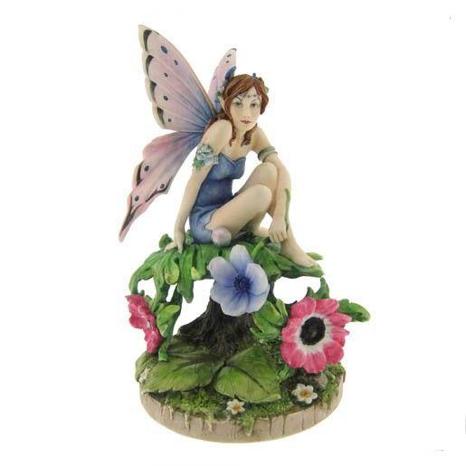 Anemone fairy - Figurine fée - Artiste Linda Ravenscroft