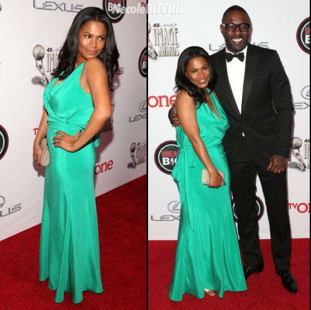 Nia Long and Idris Elba at the 2014 NAACP Image Awards