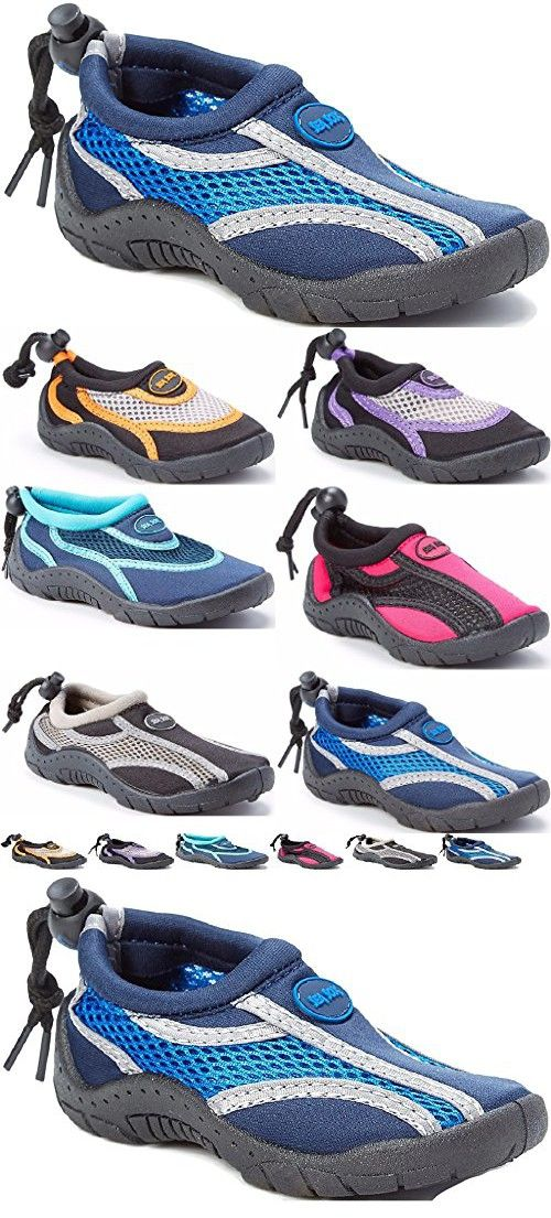 Children's Kids Water Shoes Aqua Socks Beach Pool Yoga Exercise Navy/Royal Little Kid 13
