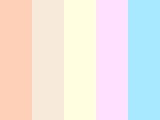Fluffy Marshmallows color palette by ressia. color palette for baby colors