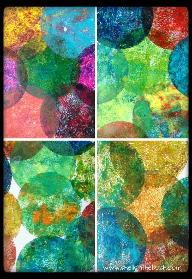 """120 best 4"""" 6"""" & 8"""" Round Gelli Plate Prints images on"""