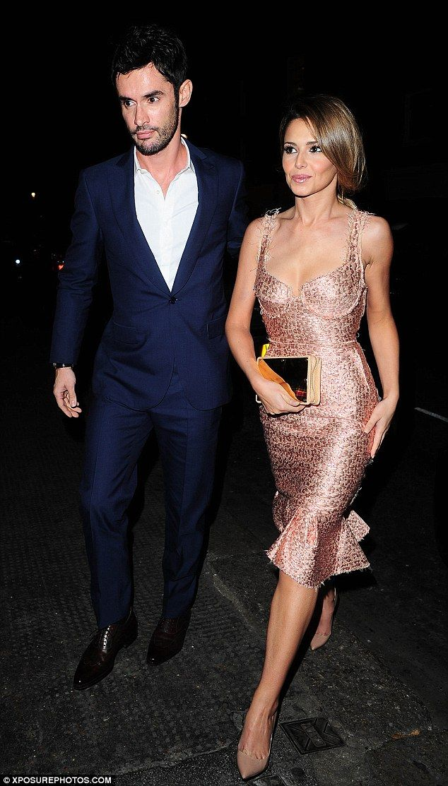 Wedded bliss!Jean-Bernard and Cheryl  Fernandez-Versini, who tied the knot in July, looked positively smitten when they attended Simon Cowell's 54th birthday bash at Italian restaurantScalini in Chelsea, London on Sunday evening