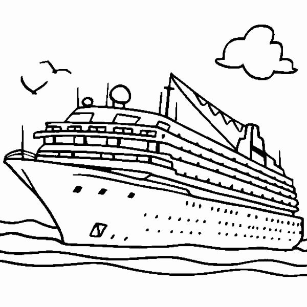 Cruise Ship Coloring Page Awesome Cruise Ship In 2020 People Coloring Pages Coloring Pages Super Coloring Pages