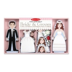 Melissa And Doug Bride And Groom Magnetic Dress-Up: Magnets Dresses Up, Flowers Girls, Girls Gifts, Doug Bride, Magnets Dressup, Grooms Magnets, Flower Girls, Melissa D'Arabian, Bride Groom