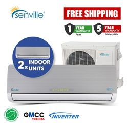 Dual Zone Mini Split Air Conditioner.  2 x 9000BTU units.
