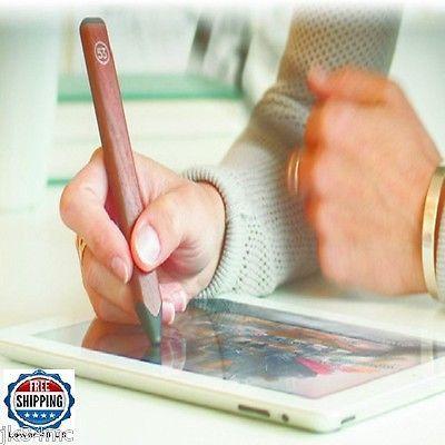 Digital Pencil Stylus Slim Walnut Design Onboard Eraser IPad IPhone IPad Pro USB