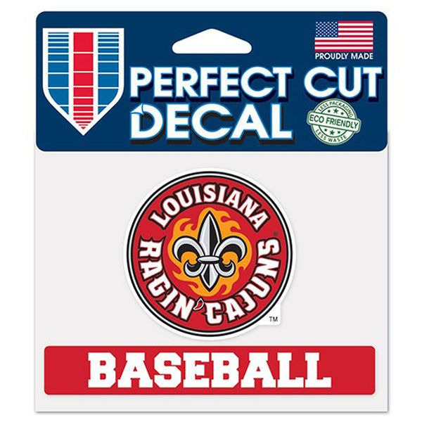 "Louisiana Ragin' Cajuns WinCraft 4"" x 5"" Perfect Cut Sport Slogan Decal - $4.99"