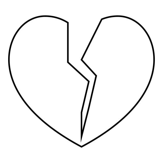 Broken Heart Icon Outline Style Heart Icons Style Icons Outline Icons Png And Vector With Transparent Background For Free Download In 2021 Heart Icons Outline Art Heart Outline
