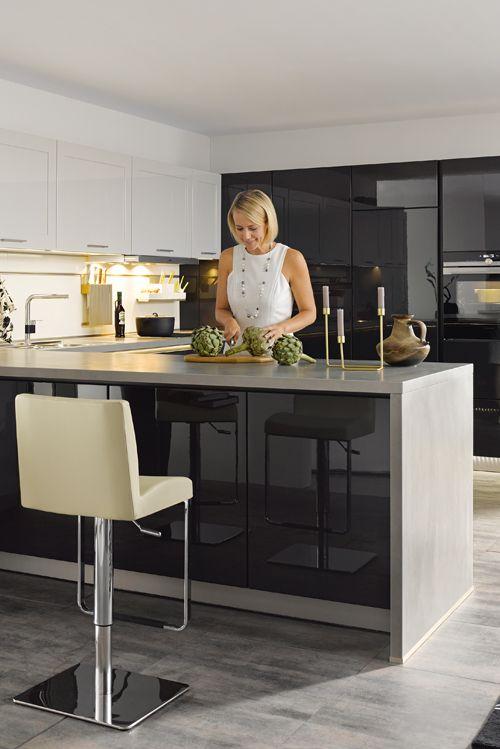 die besten 25 k che hochglanz ideen auf pinterest hochglanz k chenschr nke hochglanz k che. Black Bedroom Furniture Sets. Home Design Ideas