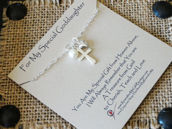 Gift For Goddaughter Birthstone Necklace Sterling By: Catholic Gifts, Goddaughter Gifts, Christian Jewelry