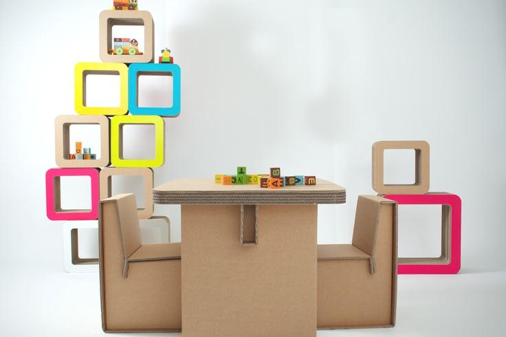 Studio Baby Plus  #kshop #mobili #cartone #ecologico #sostenibile #design #arredamento #tavolo #sedia